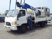 Hyundai HD78 (E-Mighty)4т. Борт-Кран Минусовой 3т. Hotomi LS1030TS