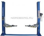 Подъемник двухстоечный,  г/п 4 тонны Nordbеrg N4120A-4T (220B/380B)