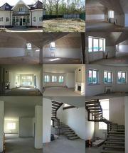 Коттедж 2 этажа,  керамзитоблок,  отделан сайдингом